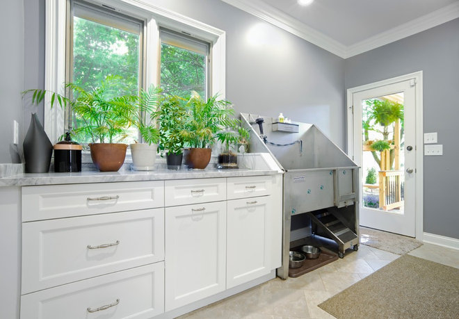 traditional laundry room by BACK Construction