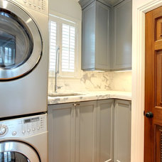Contemporary Laundry Room by Phoenix Millworks Inc.