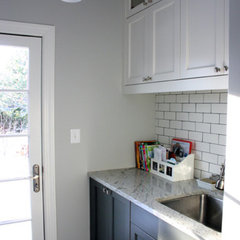 traditional laundry room by Rebekah Zaveloff