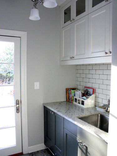 Gray And White Laundry Room Design Ideas  Remodels  amp  Photos