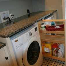 Traditional Laundry Room by Shafer Construction, LLC.