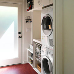 modern laundry room by Klopf Architecture