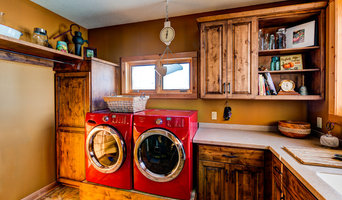 Knotty alder laundry room