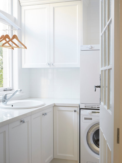 design ideas for a mid sized traditional l shaped dedicated laundry room in sydney - Laundry Design Ideas
