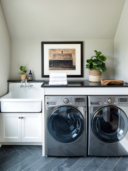 Luxury laundry room design ideas renovations photos for Farmhouse sink for laundry room