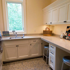 Traditional Laundry Room by Riverland Homes Inc