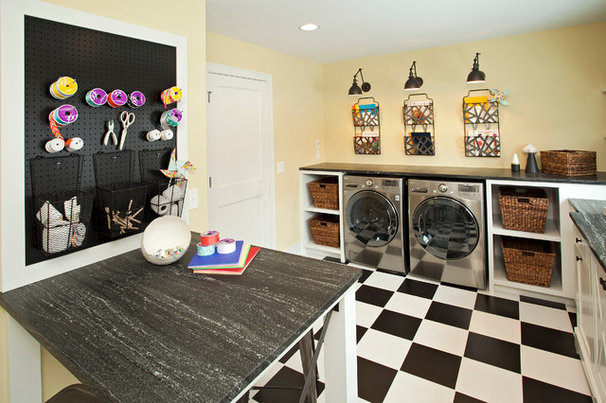 Transitional Laundry Room by REFINED LLC