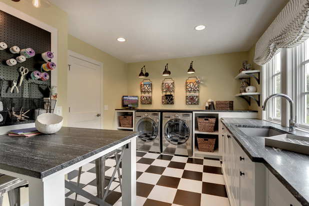 American Traditional Utility Room by REFINED LLC