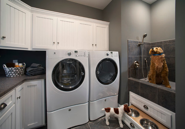Craftsman Laundry Room by Bay to Beach Builders