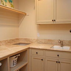 Traditional Laundry Room by Landmark Builders