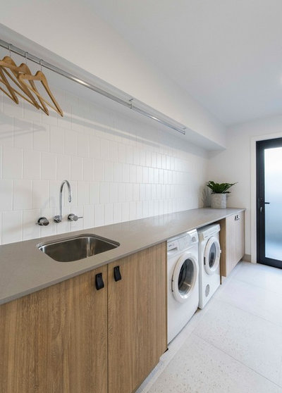 Contemporary Laundry Room by Big House Little House