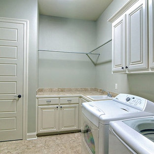 Large Laundry Room with custom cabinets