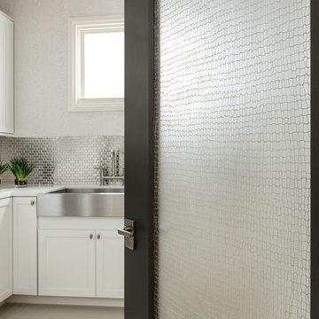 Las Vegas Modern Home - Modern Solid Wood Glass Door