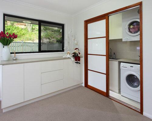 hauswirtschaftsraum asiatisch ideen f r waschk che haushaltsraum houzz. Black Bedroom Furniture Sets. Home Design Ideas