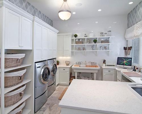 multifunktionaler hauswirtschaftsraum mit ausgussbecken. Black Bedroom Furniture Sets. Home Design Ideas