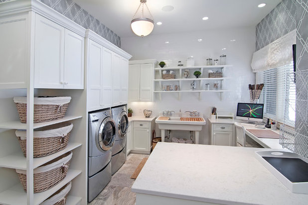 American Traditional Utility Room by 360-Vip Photography