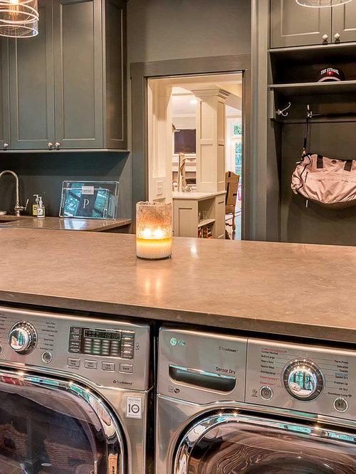 Large Scandinavian Laundry Room Design Ideas Renovations