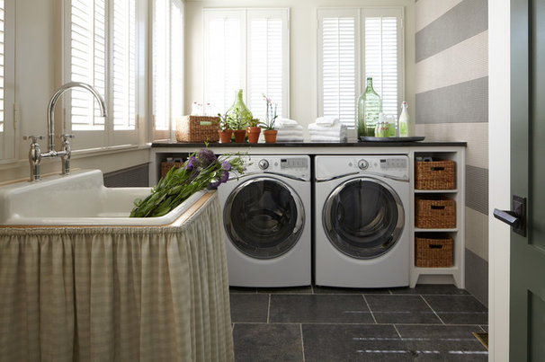 Traditional Laundry Room by ANN SACKS