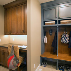 Traditional Laundry Room by HomeFront Interior Design