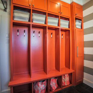 Photo of a modern laundry room in Dallas.