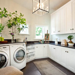 modern laundry room by Kristin Rocke
