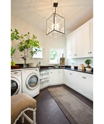 Modern Laundry Room by Kristin Rocke