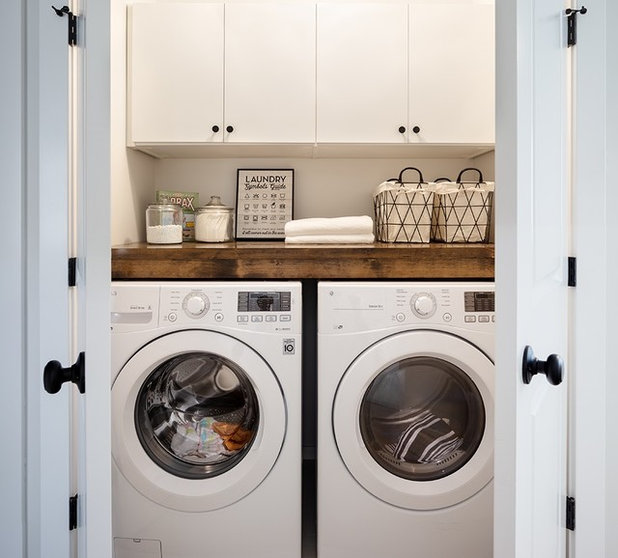 Top 10 Trending Laundry Room Ideas On Houzz: 10 Small-But-Mighty Laundry Stations For An Easier Washday