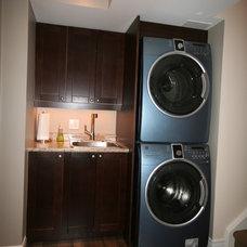 Craftsman Laundry Room by DeVrye Renovations