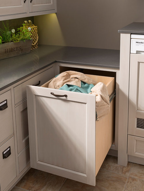Laundry Room Design Ideas, Remodels & Photos with Light Wood Cabinets and Shaker Cabinets