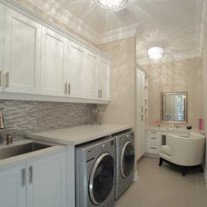 Transitional Laundry Room by Hampton Kitchens