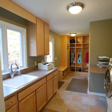 traditional laundry room by Hurst Design Build Remodeling