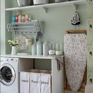 Cottage chic laundry room photo