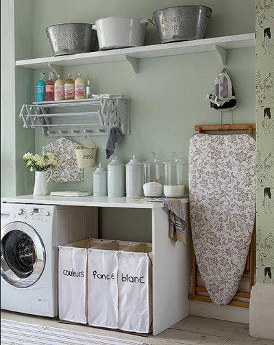 Shabby-Chic Style Lavanderia laundry