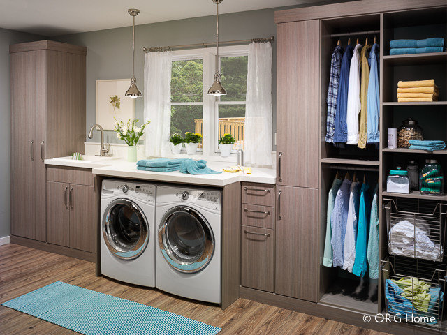 Modern Laundry Room by Closet Classics of Andover