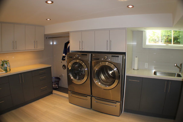 Contemporary Laundry Room by Irwin Allen Design Build Inc.