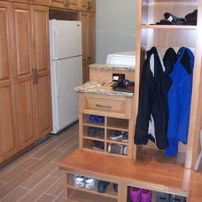 Transitional Laundry Room by Hurst Design Build Remodeling