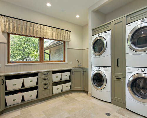 Stacked Washer Dryer Home Design Ideas, Pictures, Remodel and Decor