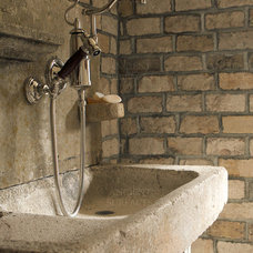 Mediterranean Laundry Room by Ancient Surfaces