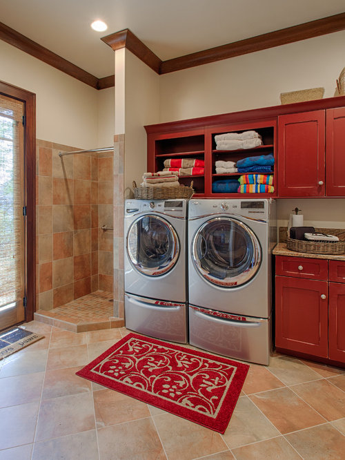 Red Laundry Room Ideas Pictures Remodel And Decor