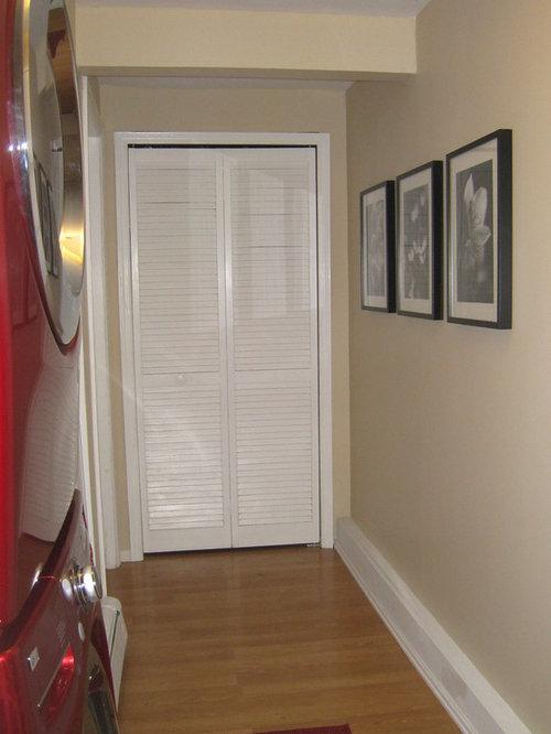 Houzz Modern Laundry Room With Linoleum Floors Design