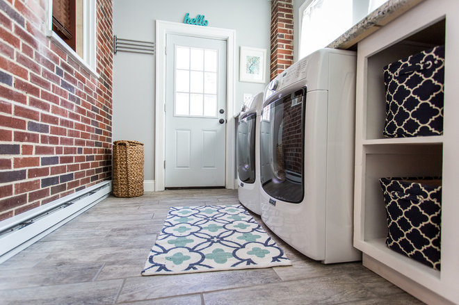 Transitional Laundry Room by Balla Custom Services