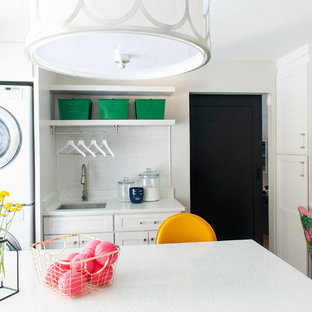 Transitional laundry room photo in Nashville