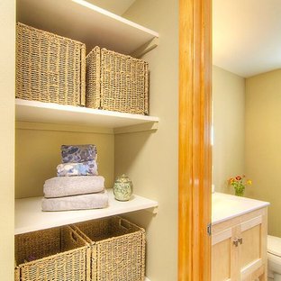 This is an example of a mid-sized transitional laundry room in Seattle.