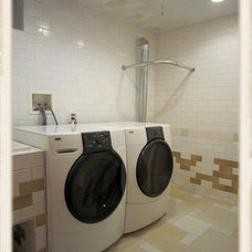 Eclectic Laundry Room by Bond Tile & Stone