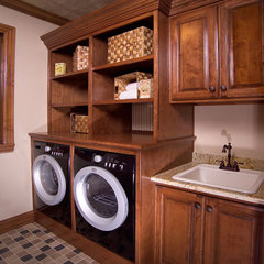 traditional laundry room by Prestige Custom Cabinetry & Millwork, Inc.