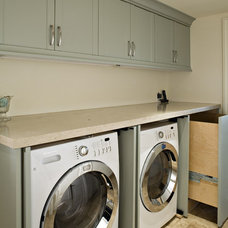 transitional laundry room by Claudio Ortiz Design Group, Inc.