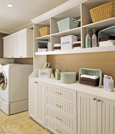 Traditional Utility Room by Closet & Storage Concepts