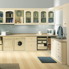 Transitional Laundry Room by Closet Factory