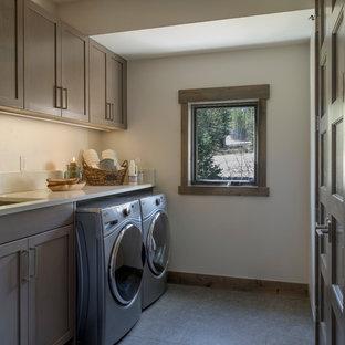 Laundry Room - Custom Modular Modern Alpine Home