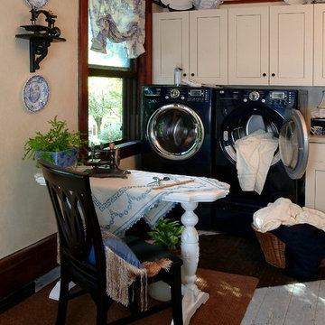 Laundry Room decorated with Sewing Machines